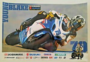 Vintage Poster 2012 Blake Young Yoshimura Suzuki GSX-R1000 AMA Superbike