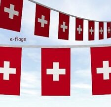 10 Metres 33ft Switzerland Swiss Flag Bunting