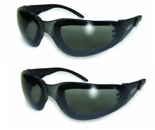 2-Pack Rider Plus Sunglasses Smoke Safety Lens Motorcycle Cycling Glasses Sports