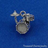 Silver DRUM SET Band Drummer CHARM PENDANT