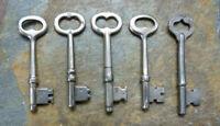 Five Antique Mortise Lock Skeleton Keys   Antique  & Vintage  Door Keys