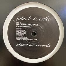 "JOHN B + EXILE - BROKEN LANGUAGE / THE FOREVER ENDEAVOUR (12"")  2005!!!  RARE!!!"