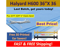 "Halyard H600 36""x36"", 10 Ft. Soft Elastic + 2 FREE EAR SAVERS Sterilization Wrap"