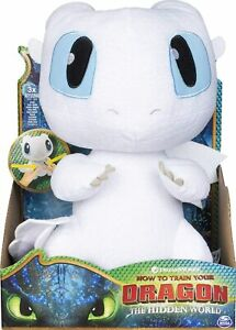 """How to Train Your Dragon: The Hidden World Squeeze and Growl Lightfury 10"""" Plush"""