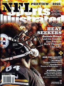 New Sports Illustrated Fantasy 2016 Antonio Brown Steelers 8/29/16 No Label