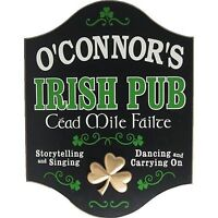 CEAD MILE FAILTE IRISH PUB CUSTOM WOODEN NOVELTY SIGN