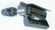 7 Pin Flat to 7 pin Samll Round  with Blue Flashing Led Trailer Adaptor