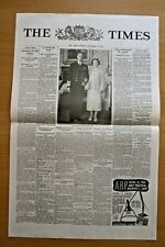 Times Newspaper VE Day Commemorative Issue - This is a single sheet of paper