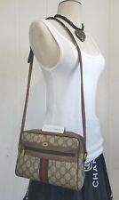 Vintage Gucci Bag Purse Ophidia GG Monogram Web Stripe Authentic 80s GAC PVC