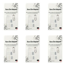 6Pcs Nano SIM Carte à Micro Standard Adaptateur Ensemble Pour Samsung iPhone