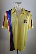FC Barcelona Trikot Gr. XL Meyba Jersey 1984-1989 Away FCB gelb 80er Shirt