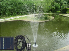 Solar Submersible Fountain 160 L/H Water Pump Pond Kits System w/ Solar Panel