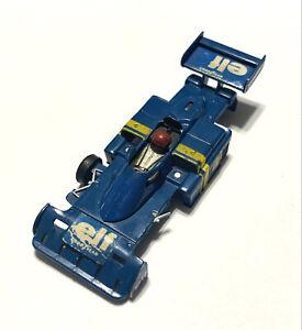 "AURORA/AFX VINTAGE G-Plus Tyrrell F1 6-Wheel Elf #1738 HO Slot Car ""BROKEN"" Body"