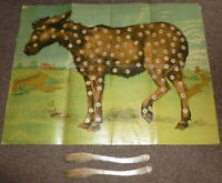 Vintage Tail-less Donkey Pin The Tail On The Donkey Game