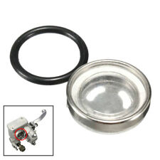 Motorcycle Bike Brake Master Cylinder Reservoir One Sight Glass Lens Gasket 18mm