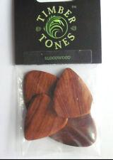 Plektren 0.8 Plec`s aus Holz Holz-Plektrum Picks aus Holz Riversong mit Carbonat