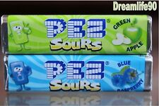 PEZ CANDY, BLUE & GREEN SOURS, 9 PACKS OF FRESH PEZ CANDY WITH FREE SHIPPING!