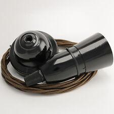 Ciondolo Kit in nero Bakelite Rosa & Con lembi Portalampada Twist Brown