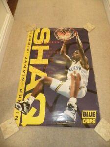 Large Slammin Jammin Dunkin SHAQ Blue chips - Shaquille O Neal Basketball poster