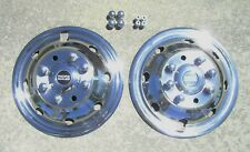 "Ford E350 E450 RV Motorhome 16"" 92-07 Stainless Dually Wheel Simulators FRONTS"