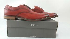 NEW! STACY ADAMS Men's FLETCHER Wingtip Oxford Cranberry Size 11.5M US Shoes