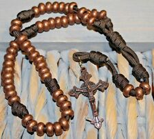 Copper Bead Paracord Unbreakable Rosary DC 725