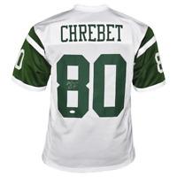 Wayne Chrebet Signed New York Pro White Football Jersey (JSA)