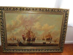 "Collectable ""Battle of the North Sea"" Painting Willem Van de Velde (1633-1707)"