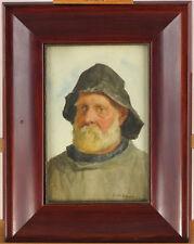 Frederick M. Evans (1859-1929) British Portrait Cornish Fisherman Watercolour