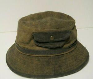 STETSON TARP CLOTH POCKET BUCKET HAT XL