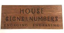 Wood House Sign Custom Laser Engraved Hard Wood 600 x 140 mm