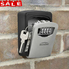 High Security Outdoor Wall Mounted Key Safe Box Secure Lock Combination Outside