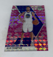 2019-20 Panini Mosaic Pink Camo Prizm KLAY THOMPSON Warriors #80