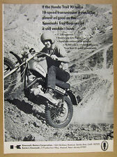 1970 Kawasaki TRAIL BOSS Motorcycle photo vintage print Ad