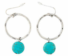 Turquoise Hook Stone Fashion Earrings