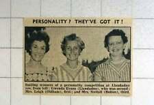 1957 Llandudno Competition Winners Glenda Evans, Mrs Leigh, Oldham And Mrs Nutta