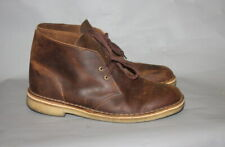 Clarks Brown Beeswax Leather Desert Ankle Boots UK 8.5 G 42.5 VGC