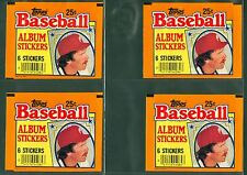 (4) 1984 TOPPS STICKERS WRAPPERS - MIKE SCHMIDT (NM-MT) / LOT OF 4