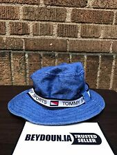 Vintage Tommy Hilfiger Gear Bootleg Blue Bucket Fishing Hat One Size