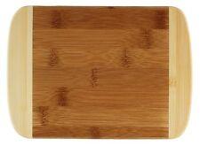 """Totally Bamboo 8"""" Bar Board 2-Tone Cutting Chopping Serve Garnish Eco-Friendly"""