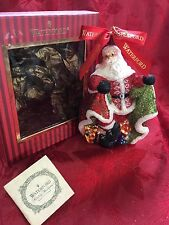 FLAWLESS Exceptional WATERFORD Glass Twirling WINTER SANTA Christmas Ornament