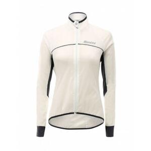 Virgo women's Rain Jacket - in White/Grey - Made it Italy by Santini Size S