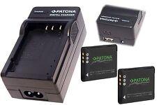 2x Premium Akku + 4in 1 LADEGERÄT USB für  Olympus Stylus Traveller SH-25MR