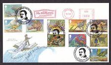 2002 Rudyard Kipling Set di 10 su FDC con speciali METER MARK