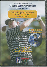 Driving for Distance and Accuracy Tom Lehman DVD PGA Tour Partners Club Golf