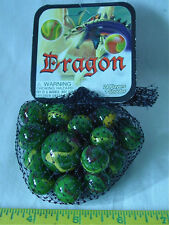 DRAGON  Net Bag Of 24 Player Mega Marbles & 1 Shooter-Instructions & Facts