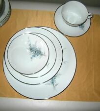 Vintage Noritake Sonnet Three Salad Plates Blue Floral