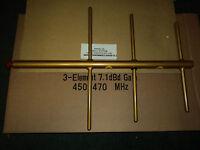 NEW Yagi Base Antenna UHF 450 - 470 - 3 Elements - 7.1 dBd Gain - WELDED Quality