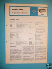Service Manual Telefunken M 401 Tonbandmaschine ORIGINA