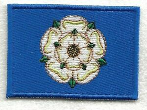 Yorkshire : Embroidered Flag Iron on Sew on Patch Badge